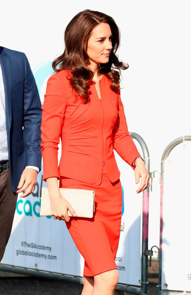 Catherine, Duchess of Cambridge attends the official opening of The Global Academy in support of Heads Together at The Global Academy on April 20, 2017 in Hayes, England