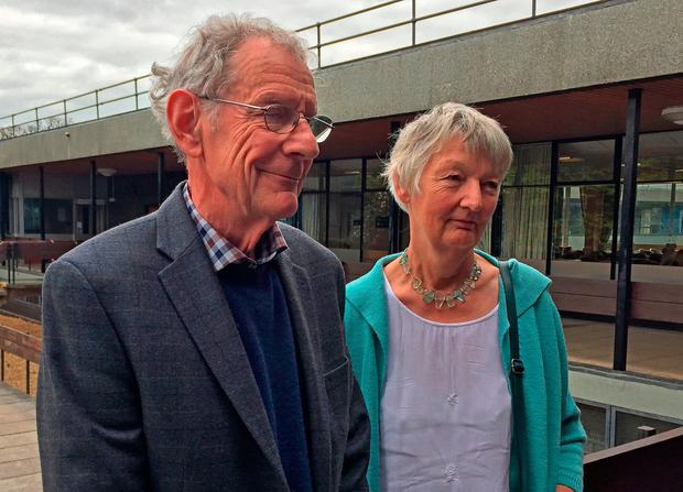 Graham and Meg Hemmings who previously owned a piano where a stash of gold was found: Richard Vernalls/PA Wire