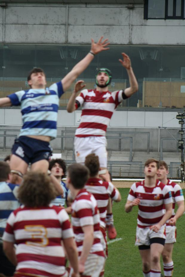 Hugh Keaveney jumps in the lineout