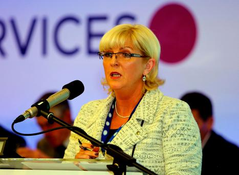 Maria Ryan, president of the Public Service Executive Union, at the union's conference in Co Galway. Photo: Hany Marzouk