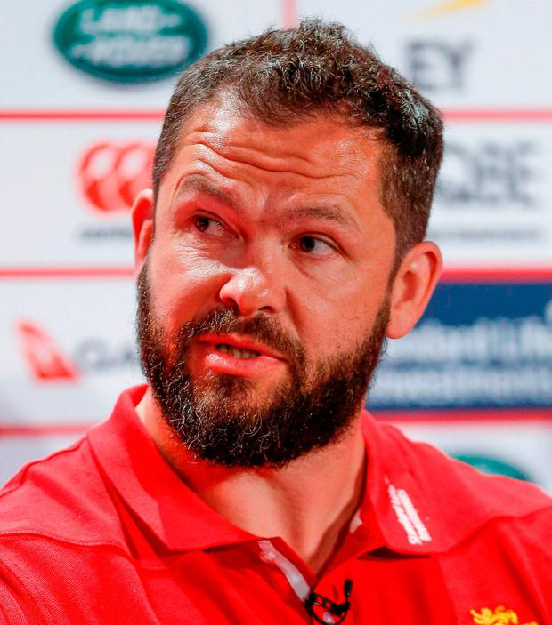 British & Irish Lions coach Andy Farrell. Photo: Paul Harding/Sportsfile