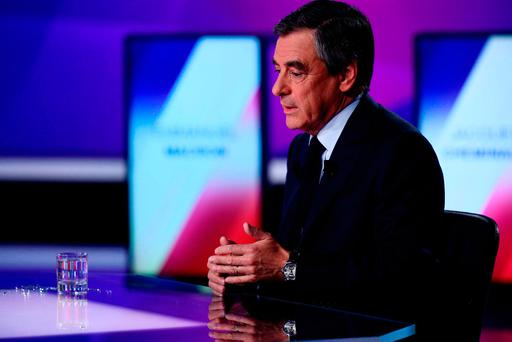 Francois Fillon, member of the Republicans political party and 2017 French presidential election candidate of the French centre-right, attends the France 2 television special prime time political show,