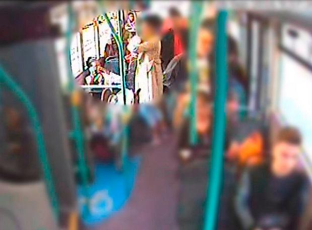 Undated handout CCTV still issued by the Metropolitan Police of a woman providing Rosalin Baker with assistance on a bus, as she and Jeffrey Wiltshire are facing jail over the death of their premature baby who was found lifeless on the bus. Metropolitan Police/PA Wire