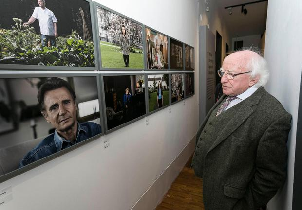 Pictured: President Michael D Higgins at the launch of Kim Haughton's Portrait of a Century. Pic: Paul Sherwood