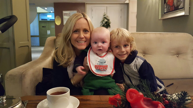 Georgina Culshaw with her two boys Paddy and Joey