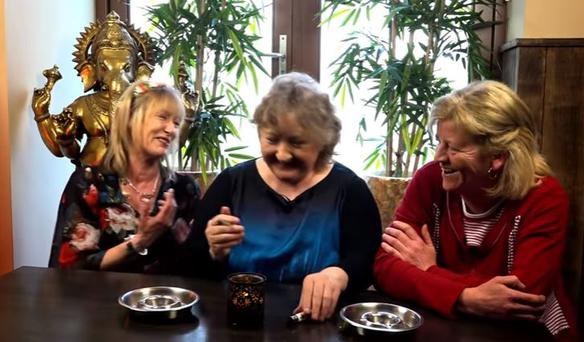 Three Irish mammies smoke weed for the first time. PIC: Facts Channel, YouTube