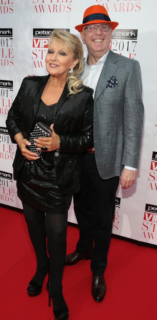 Adele King and Rory Cowan at the Peter Mark VIP Style Awards 2017 at The Marker Hotel Dublin. Picture: Brian McEvoy