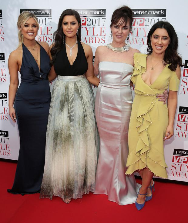 Bonnie Ryan, Babette Ryan, Morah Ryan and Lottie Ryan at the Peter Mark VIP Style Awards 2017 at The Marker Hotel Dublin. Picture: Brian McEvoy