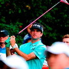 Bubba Watson watches his shot at the Shenzhen International golf tournament in Shenzhen, in China. Photo: Getty Images