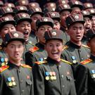 North Korean soldiers take part in a military parade last week in Pyongyang, North Korea. Photo: Wong Maye-E/AP