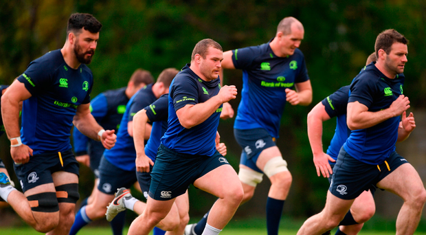 Leinster during squad training at UCD. Photo: Sportsfile