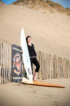 Bláithín Sweeney who set up a charity to get people doing yoga, surfing and other activities to help people deal with their problems. Picture: Andrew Kilfeather