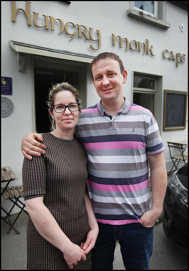 Aisling Butler and Jonathan Byrne, owners of the Hungry Monk Café. Picture: Steve Humphreys