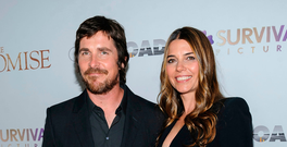 Christian Bale, left, and Sibi Blazic attends the special screening of