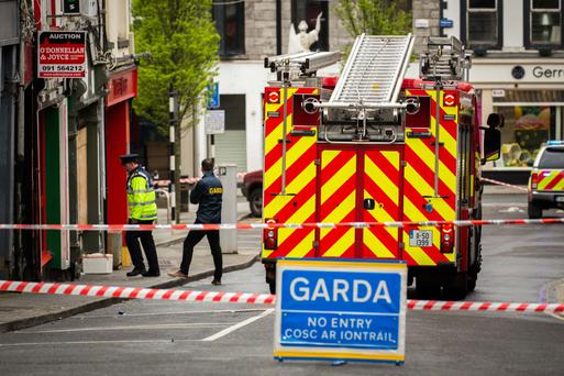 Scene of the fire on Market Street, Sligo this morning (Photo: James Connolly)