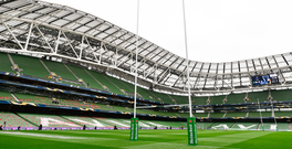 A general view of Aviva Stadium ahead of the European Rugby Champions Cup Semi-Final match between Munster and Saracens at the Aviva Stadium in Dublin. Photo by Ramsey Cardy/Sportsfile