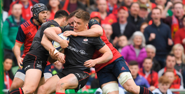 22 April 2017; Chris Ashton of Saracens is tackled by Tommy ODonnell of Munster during the European Rugby Champions Cup Semi-Final match between Munster and Saracens at the Aviva Stadium in Dublin. Photo by Brendan Moran/Sportsfile