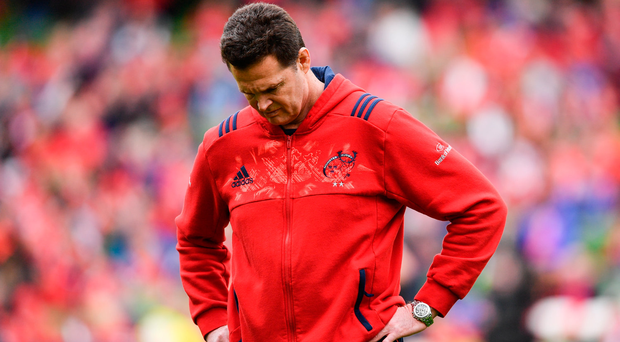 22 April 2017; Munster Director of Rugby Rassie Erasmus during the European Rugby Champions Cup Semi-Final match between Munster and Saracens at the Aviva Stadium in Dublin. Photo by Ramsey Cardy/Sportsfile