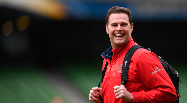 21 April 2017; Munster director of rugby Rassie Erasmus during their captain's run at the Aviva Stadium in Dublin. Photo by Stephen McCarthy/Sportsfile