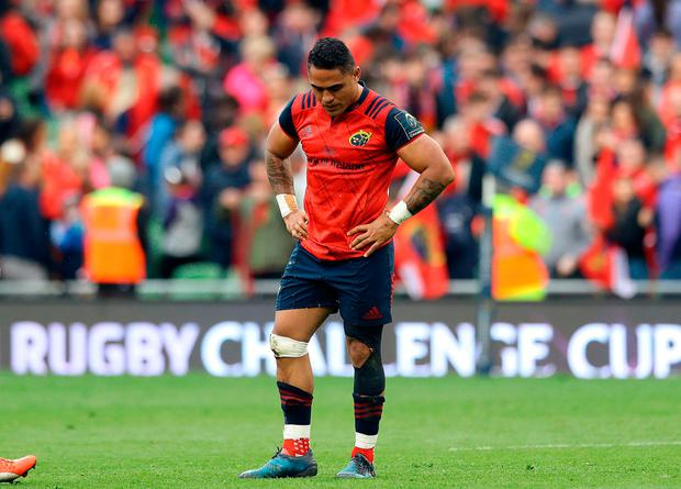 A disappointed Francis Saili after the match. Photo: PA