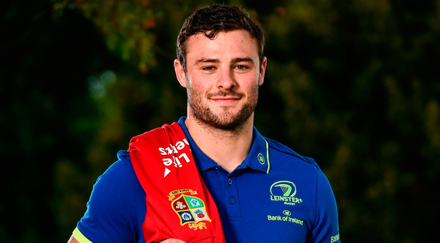 Robbie Henshaw celebrates his selection for the Lions tour during the week. Photo: Sportsfile