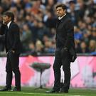 LONDON, ENGLAND - APRIL 22: Mauricio Pochettino, Manager of Tottenham Hotspur reacts during The Emirates FA Cup Semi-Final between Chelsea and Tottenham Hotspur at Wembley Stadium on April 22, 2017 in London, England. (Photo by Laurence Griffiths/Getty Images)