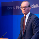 Defiant: Housing Minister Simon Coveney keeps publishing debatable completion figures, which could be working against the objective of increasing housing supply Photo: Damien Eagers