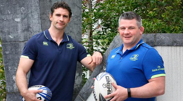 Trevor Hogan (left) and Peter Smyth are the key men in Leinster's talent hub which aims to nurture new elite players. Photo: Frank McGrath