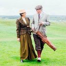 Pictured in period costume to mark the official launch of the 125 Year Celebrations at Lahinch Golf Club were incoming lady captain, Jacqueline Joyce and incoming men's captain, Pádraig Slattery. Photo: Brian Arthur