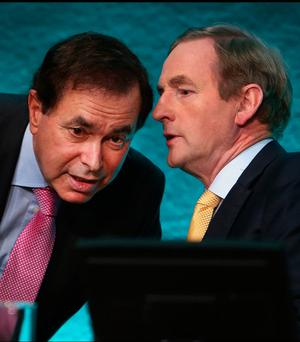 Aggrieved: Alan Shatter with Taoiseach Enda Kenny