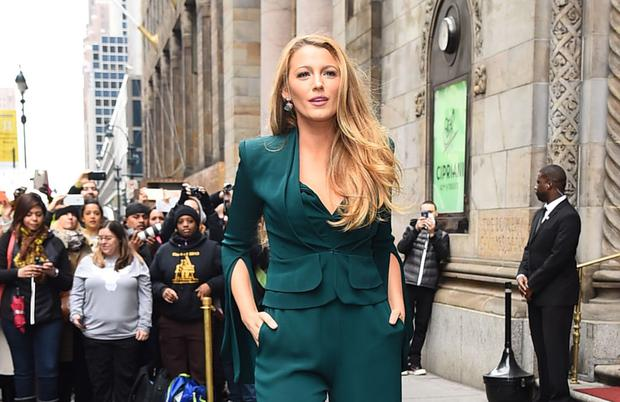 Actress Blake Lively arrives to Variety's Power of Women New York luncheon at Cipriani Midtown on April 21, 2017 in New York City. (Photo by Raymond Hall/GC Images)