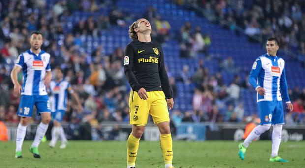 Antoine Griezmann during the match between RCD Espanyol vs Atletico Madrid, for the round 33 of the Liga Santander, played at RCD Espanyol Stadium on 22th April 2017 in Barcelona, Spain.(Photo by Urbanandsport/NurPhoto via Getty Images)