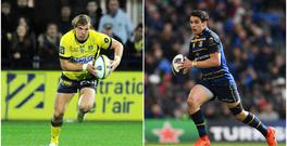 Aurelien Rougerie (left) and Joey Carbery (right).