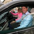 Padraig Harrington and his wife Caroline leave Ashford Castle after attending the Rory McIlroy and Reica Stoll wedding. Picture credit; Damien Eagers