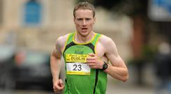 Sean Hehir, a former Dublin Marathon champion, finished 19th overall in yesterday's London Marathon. Photo: SPORTSFILE