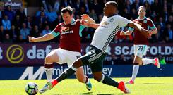 Anthony Martial puts Manchester United into the lead at Turf Moor. Photo: REUTERS