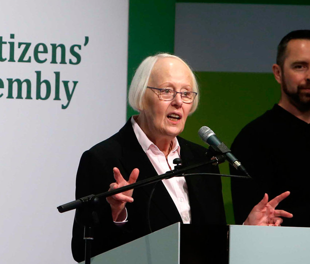 22/04/2017. Citizens Assembly. Pictured Chairperson Ms. Justice Mary Laffoy, in the Grand Hotel in Malahide where the Citizens Assembly have voted in Ballot 1 on the consideration of the first item referred to it by the Dail Resolution, the Eighth Amendment to the Constitution. The Citizens Assembly recommendation on Ireland's future abortion laws will be determined by up to four votes over the next two days. The process concludes deliberations on the issue of the Eighth Amendment before chair Justice Mary Laffoy prepares a report for the Oireachtas. The assembly meets this morning and the first vote at 11.05am may conclude the weekends programme. If not, up to three more votes will take place. Photo: Sam Boal/Rollingnews.ie