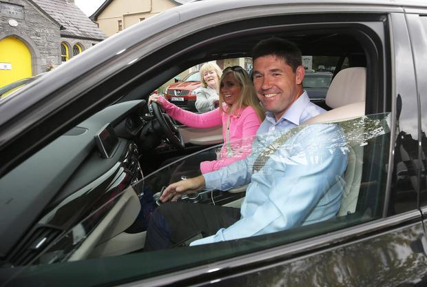Padraig and Caroline Harrington at the wedding of Rory and Erica Photo: Damien Eagers