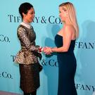 Ruth Negga and Reese Witherspoon attend Tiffany & Co. 2017 Blue Book Collection Gala at St. Ann's Warehouse on April 21, 2017 in New York City (Photo by Andrew Toth/FilmMagic)