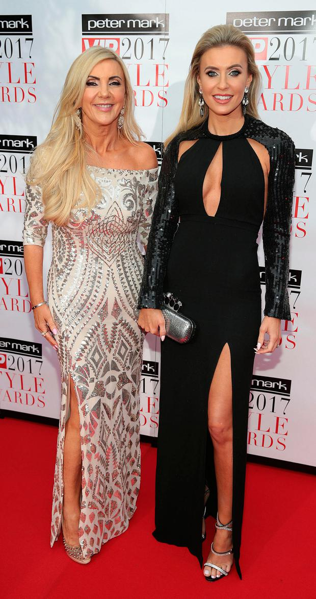 Joanne Palmer and Claudine Keane at the Peter Mark VIP Style Awards 2017 at The Marker Hotel Dublin. Picture: Brian McEvoy