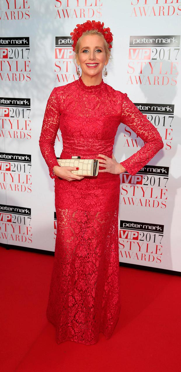 Aisling O'Loughlin at the Peter Mark VIP Style Awards 2017 at The Marker Hotel Dublin. Picture: Brian McEvoy