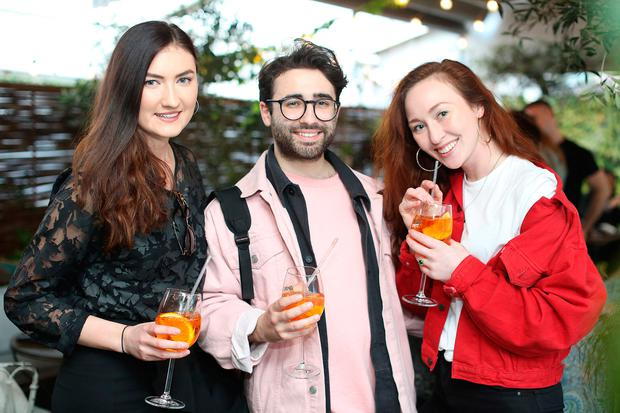 (L-R) Jenny Drea,Conor Merriman and January Winters at the Schuh SS17 Launch in House, Dublin. Picture: Julien Behal