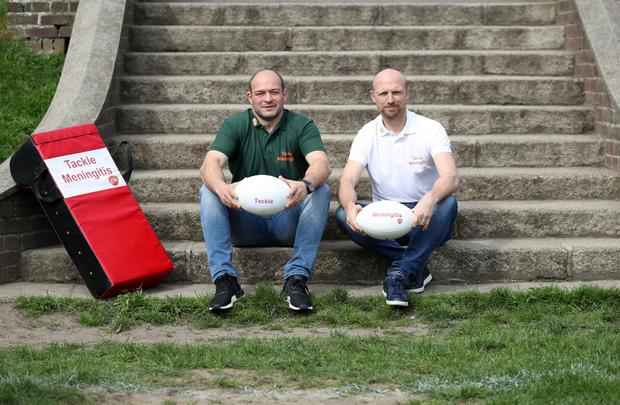 Irish rugby captain Rory Best and former England rugby player, Matt Dawson (Picture Jason Clarke)