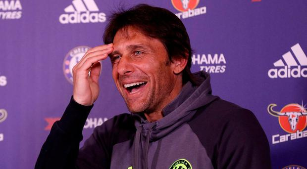 Chelsea manager Antonio Conte hopes his team can extend their Premier League lead tonight. Photo: John Sibley/Action Images via Reuters