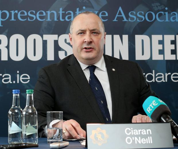 GRA president Ciaran O'Neill speaks ahead of the ADM Picture: CONOR Ó MEARÁIN