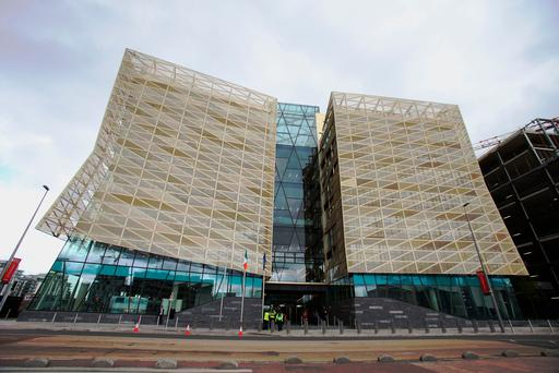 The new Central Bank building in Dublin's Docklands Picture: PA