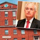 Holles Street and inset Dr Peter Boylan