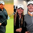 Shane Lowry and Erica Stoll and Rory McIlroy, who wed in private last weekend. Images: Getty