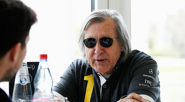 BERLIN, GERMANY - APRIL 18: Laureus World Sports Academy member Ilie Nastase is interviewed prior to the 2016 Laureus World Sports Awards at Messe Berlin on April 18, 2016 in Berlin, Germany. (Photo by Boris Streubel/Getty Images for Laureus)