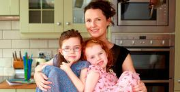 Family matters: Andrea Mara with her daughters Elisa (5) and three-year-old Nia at home in Dún Laoghaire. Photo: Ronan Lang